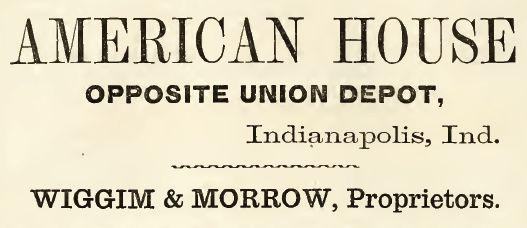 American House, 1860