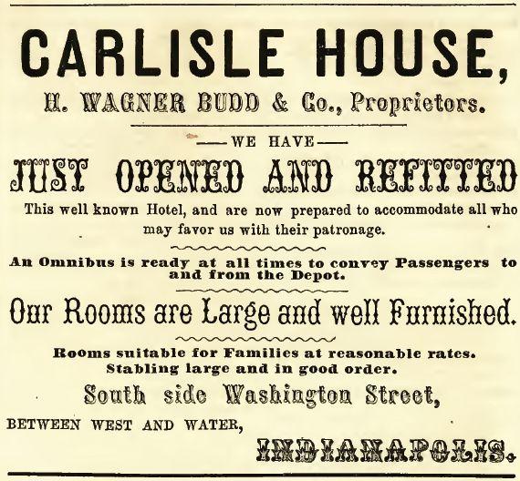 Carlisle House, 1857