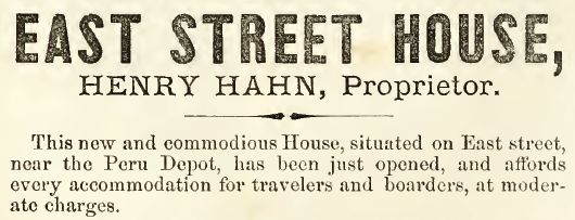 East Street House, 1860-61