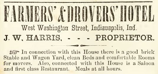 Farmers and Drovers Hotel-1860-61