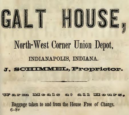 Galt House, 1855