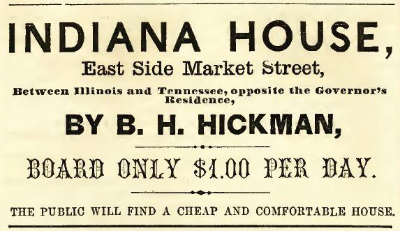 Indiana House, 1857