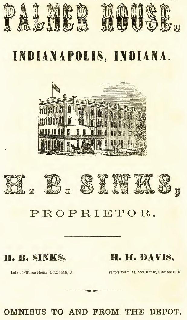 Palmer House, 1865