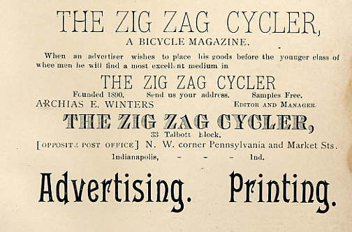 zigzagcycler_advert_bicyclers