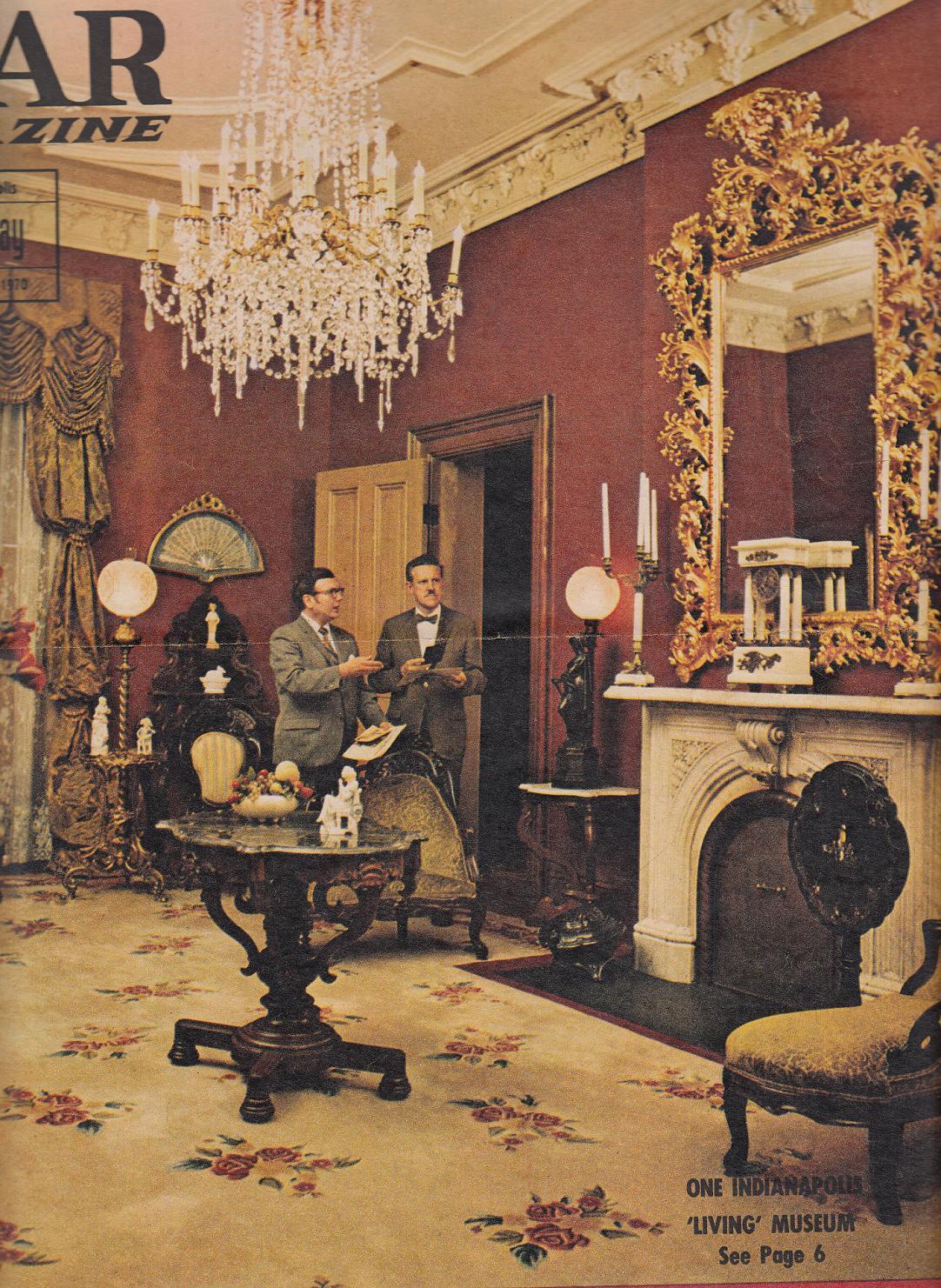 Morris-Butler House Museum interior, 1970