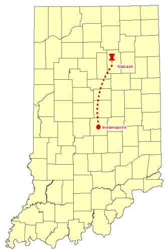 Map to Wabash