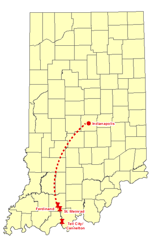 St Meinrad Indiana Map.Outside The Circle Perry And Dubois Counties Historic