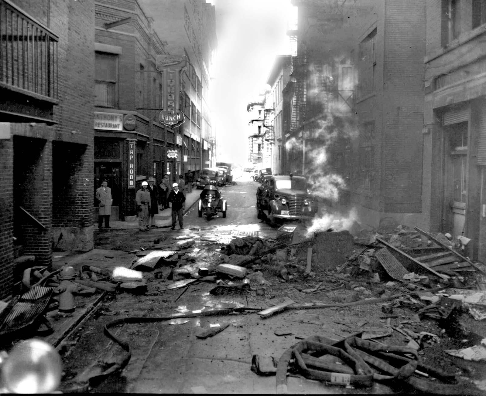 Court St fire, 1952