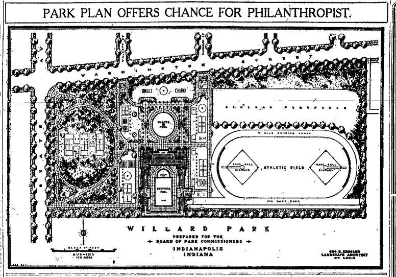 Willard Park Plan, 1913