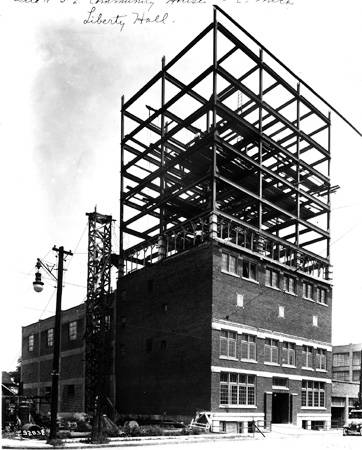 Liberty Hall, under construction, 1925